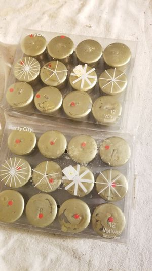 2 packs of gold votive candles for Sale in Everett, WA
