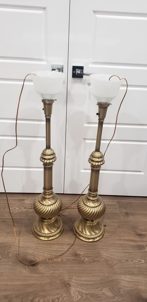 Gold antique lamps. for Sale in Steilacoom, WA