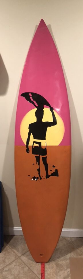 """6'2"""" Spyder Surfboard with Custom Paint for Sale in Germantown, MD"""