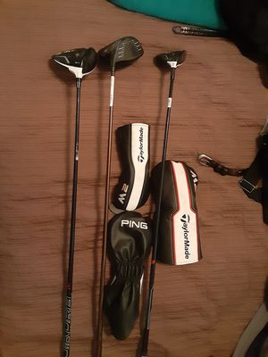 TaylorMade and Ping drivers and 3 wood for Sale in Dallas, TX