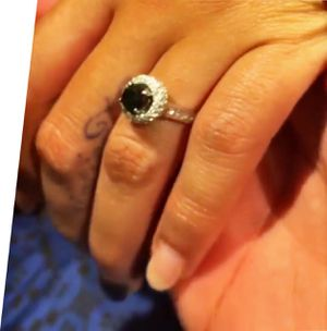 2 carat white gold ring. Black diamond is 1 carat. The halo and half of band has diamonds. for Sale in Houston, TX