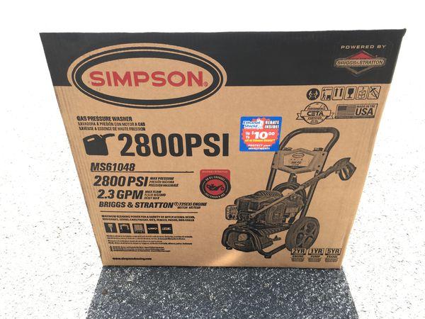 Simpson Gas pressure washer