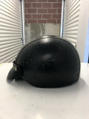 Small leather half shell motorcycle helmet for Sale in Salt Lake City, UT