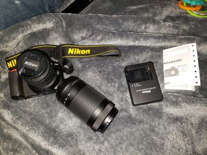 Nikon d3500 with extra lense brand new for Sale in Fort Lauderdale, FL