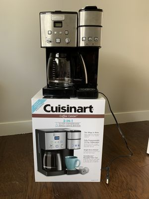 Cuisinart 12-Cup Coffee Maker and Single-Serve Brewer Stainless Steel (SS-15) for Sale in Parma, OH