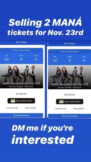MANÁ Tickets for Sale in Pomona, CA