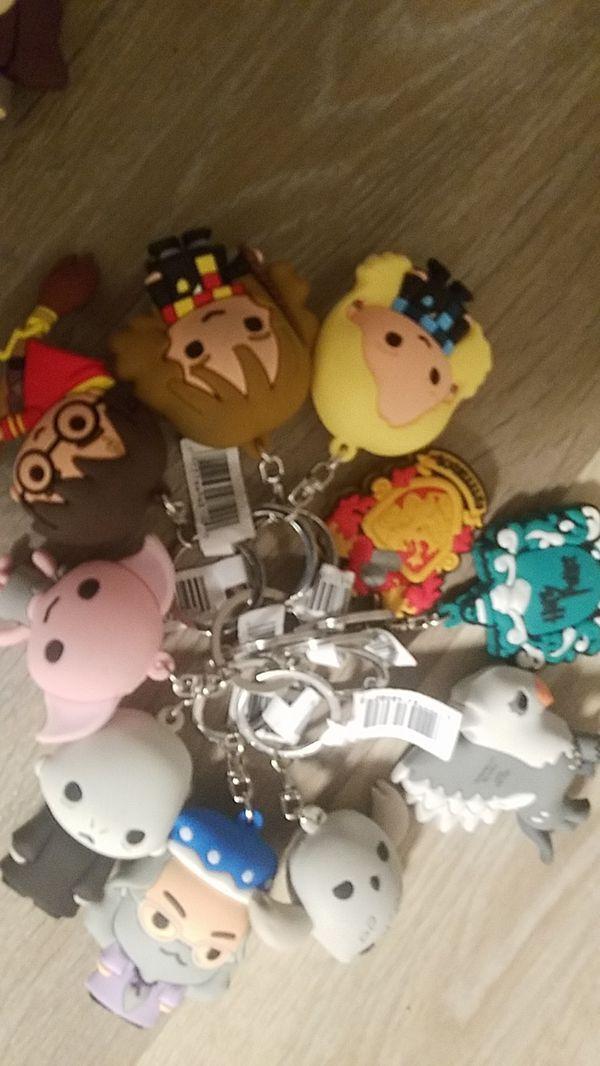 Harry potter blind bag keychain lot!