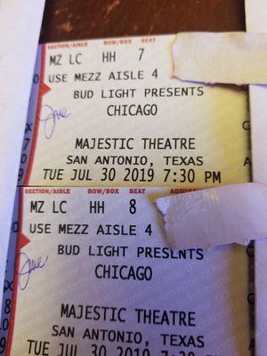 Chicago Tickets $450 for Sale in San Antonio, TX