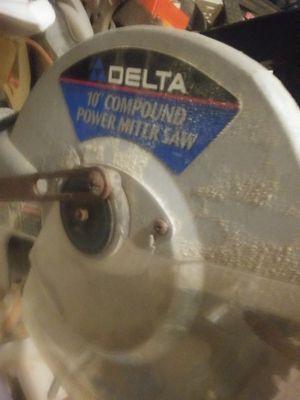 Delta Compound Mitre Saw for Sale in Lincoln, RI