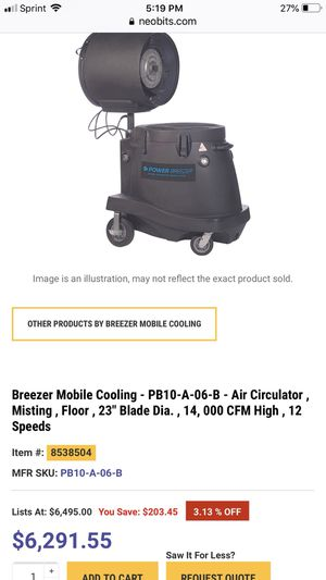 Power Breezer cooling fan for Sale in Chester, VA