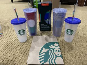 STARBUCKS 2020 PRIDE BUNDLE | STUDDED RAINBOW COLOR CHANGING CUPS CONFETTI!!!!! for Sale in Silver Spring, MD