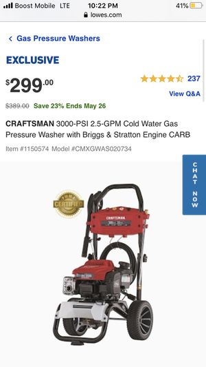 Craftsman Gas Pressure Washer - BRAND NEW IN BOX! for Sale in Dallas, TX