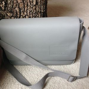 Lacoste Messenger Bag Leather Grey Crossbody for Sale in Los Angeles, CA