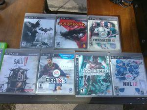 7 mint condition PS 3 games bundle for Sale in Washington, DC