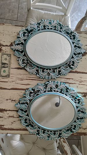 Oval, Turquoise Blue?, Decorative Mirrors (2) for Sale in Phoenix, AZ