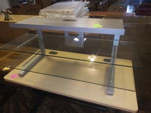 TV Stand with Glass Shelves for Sale in Fort Wayne, IN