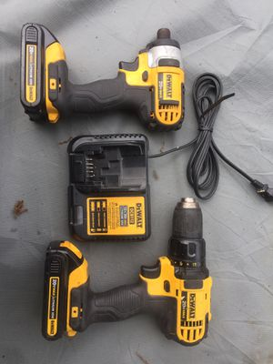 DeWalt 20v impact driver and drill set for Sale in Arlington, TX