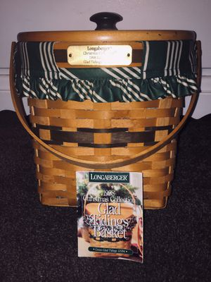 Longaberger 1998 basket. Complete with all 5 items. Porch pick up. for Sale in West Covina, CA