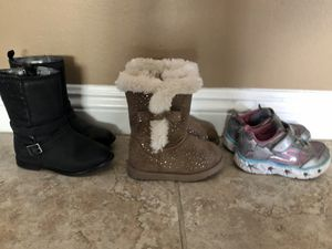 Toddler girl shoes and boots Size 7 for Sale in El Monte, CA