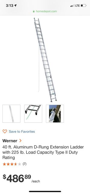 2 40ft ext ladders for Sale in Pittsburgh, PA