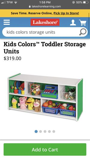 Lakeshore Learning Kids Colors™ Preschool Storage Units in green with wheels for Sale in Seattle, WA