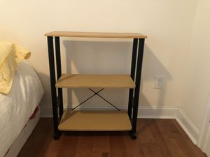 Shelving unit, three tiers. Clean. As new. 12 inch wide by 28 inch long 30 inch tall. $45 for Sale in Fairfax, VA