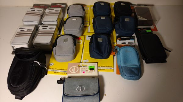 17 brand new and salesman sample miniature compact camera cases
