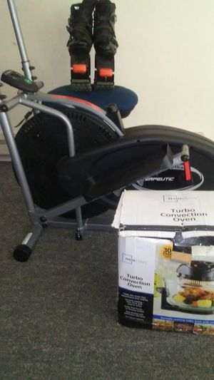 Almost new air elliptical exerpeutic,1year kangaroo jumper boot,turbo convection oven for Sale in Madison, WI