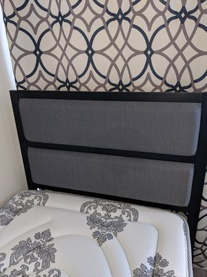 Twin XL - Metal Frame with head board and Hybrid Mattress for Sale in Dulles, VA