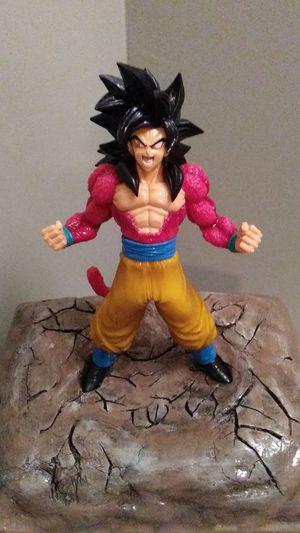 Custom resin stand dragonball z super saiyan 4 goku model statue for Sale in West Park, FL