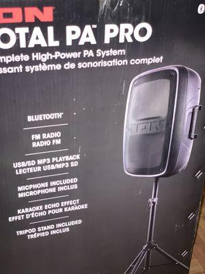 "ION audio PA PRO 15"" 400w 2-way PA speaker black for Sale in Brooklyn, NY"