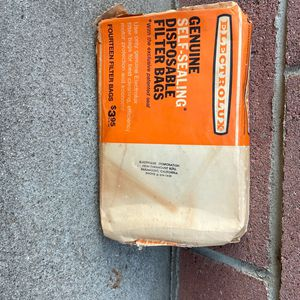 Vintage Electrolux Self Sealing Disposable Filter Bags for Sale in Downey, CA