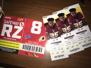 3 Redskins vs Lions Lower Level Tickets (Nov 24th) for Sale in Richmond, VA