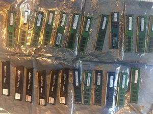 PC COMPUTER DESKTOP AND LAPTOP MEMORY , RAM MEMORY DDR1, DDR2, DDR3 ... ETC. for Sale in Long Beach, CA