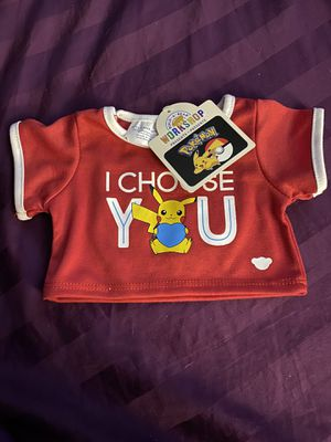 Pokemon build a bear valentines shirt for Sale in Pelham, NH