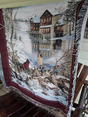 Country throw with birds,,,51x43,,, for Sale in Linden, PA