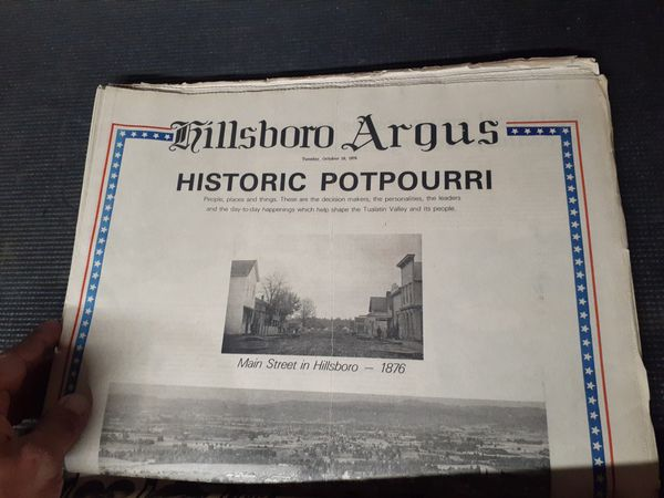 Hillsboro Argus 100th Anniversary Issue
