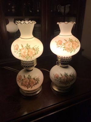 Vintage glass lamps for Sale in Arnold, MD
