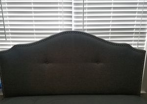 Queen Fabric bedframe w/ storage for Sale in Concord, NC