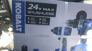 Kobalt 24v max brushless 2 drill set for Sale in Tampa, FL