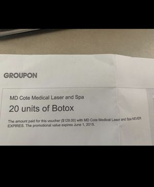 Groupon Botox voucher for Sale in Maple Valley, WA