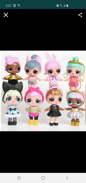 LOL Surprise Doll Baby Tear Series Ornament for Kids Toy Gift 8 Pcs Figures Set for Sale in Gardena, CA