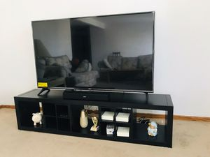 65 inch LG 4K UHD TV with ikea TV table with light fixtures for Sale in Des Plaines, IL