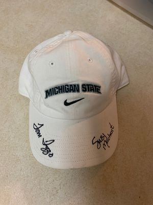 Msu autographed basketball hat for Sale in Traverse City, MI