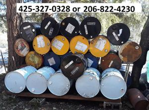55 gallon closed top barrels - drums for Sale in Renton, WA