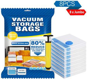Jumbo Vacuum Storage Bags 8 Pack Space Saver BagsSpace Double Zip Seal for Sale in Queens, NY