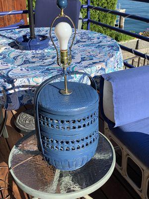 Blue wicker lamps - 3-way for Sale in Manson, WA