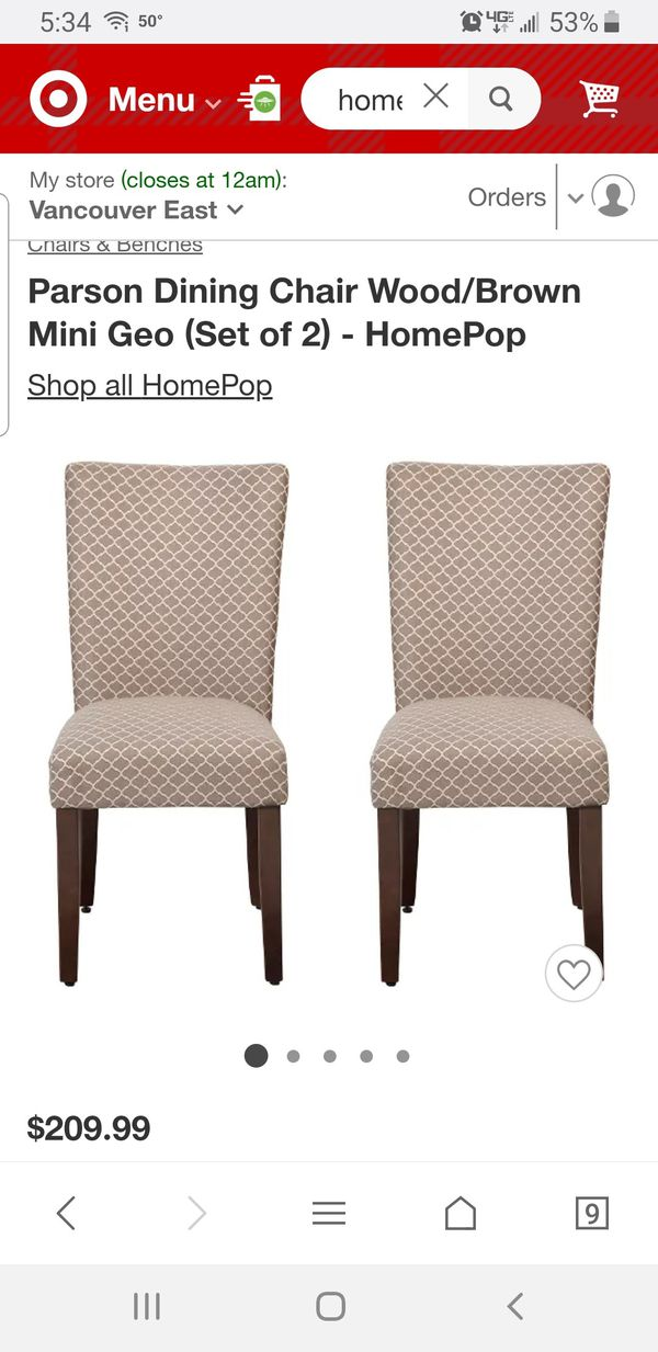 2 Brand New Dining Chairs For Sale In Vancouver Wa Offerup