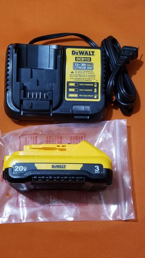 DEWALT 20V BATTERY AND CHARGER for Sale in Kansas City, MO
