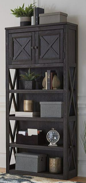 ▶️Tyler Creek Brown/Black Large Bookcase for Sale in Houston, TX